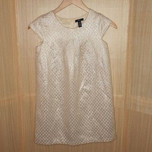 Gap Girl's Gold Metallic & Cream Dress. Size XXL